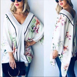Floral Poncho Kimono Top 🌸🌻💐